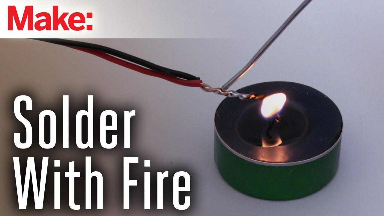 Solder without a Soldering Iron Using Steel Wire and Fire on