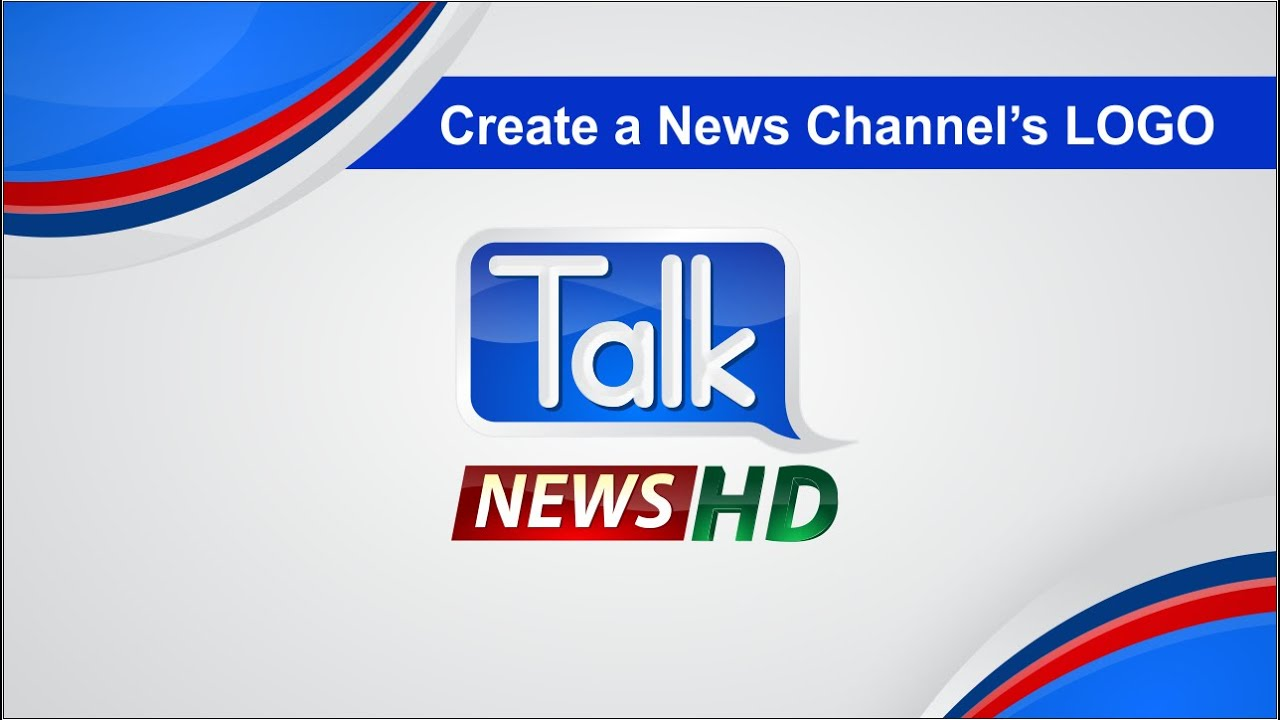 Creating a News Channel's Logo | How to Create a logo in Corel Draw