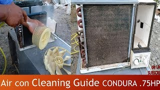 Air Con Cleaning Guide / Condura window type .75HP / Tagalog