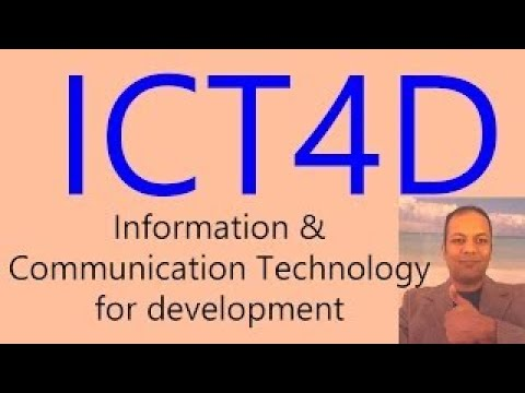 ICT4D explained in Hindi | Information and Communication Technology for Development in Urd
