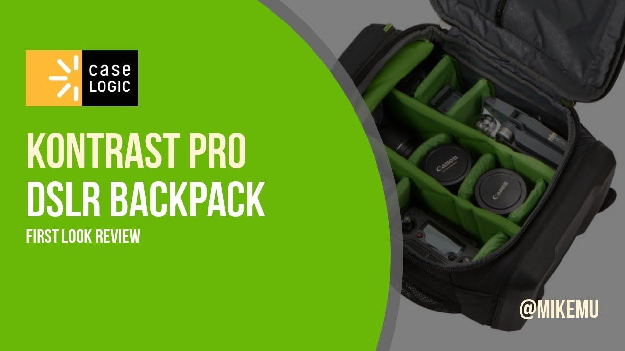 31b6656599bec Case Logic Kontrast Pro DSLR Backpack   First Look Review - YouTube
