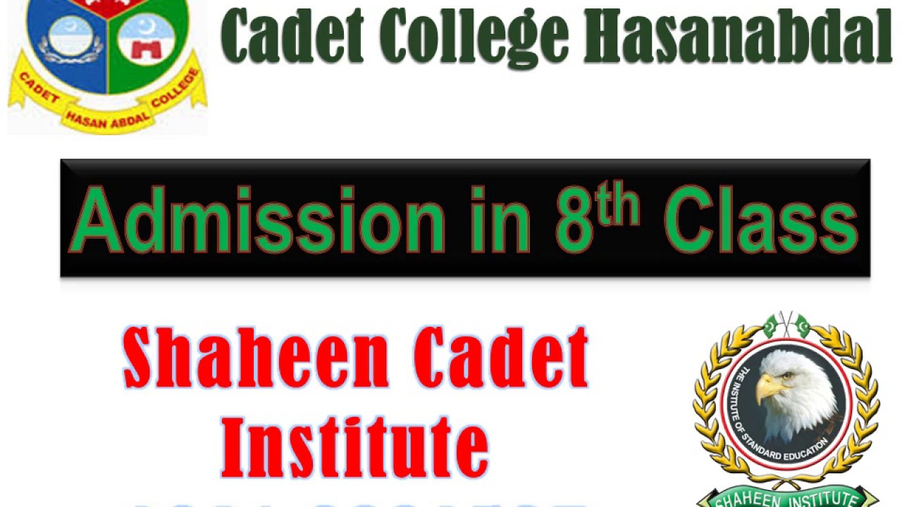 Admission In Cadet College Hasan Abdal