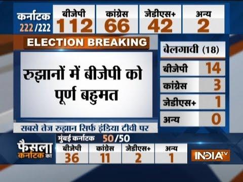 Karnataka election result 2018: BJP set to form govt in Karnataka, touches 112 benchmark