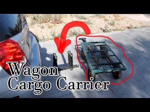 Ingenious invention - Cargo carrier / wagon / ninja awesomeness! Mount a wagon like a trailer.