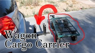 Ingenious Invention - Cargo Carrier / Wagon / Ninja Awesomeness! Mount A Wagon Like A Trailer.