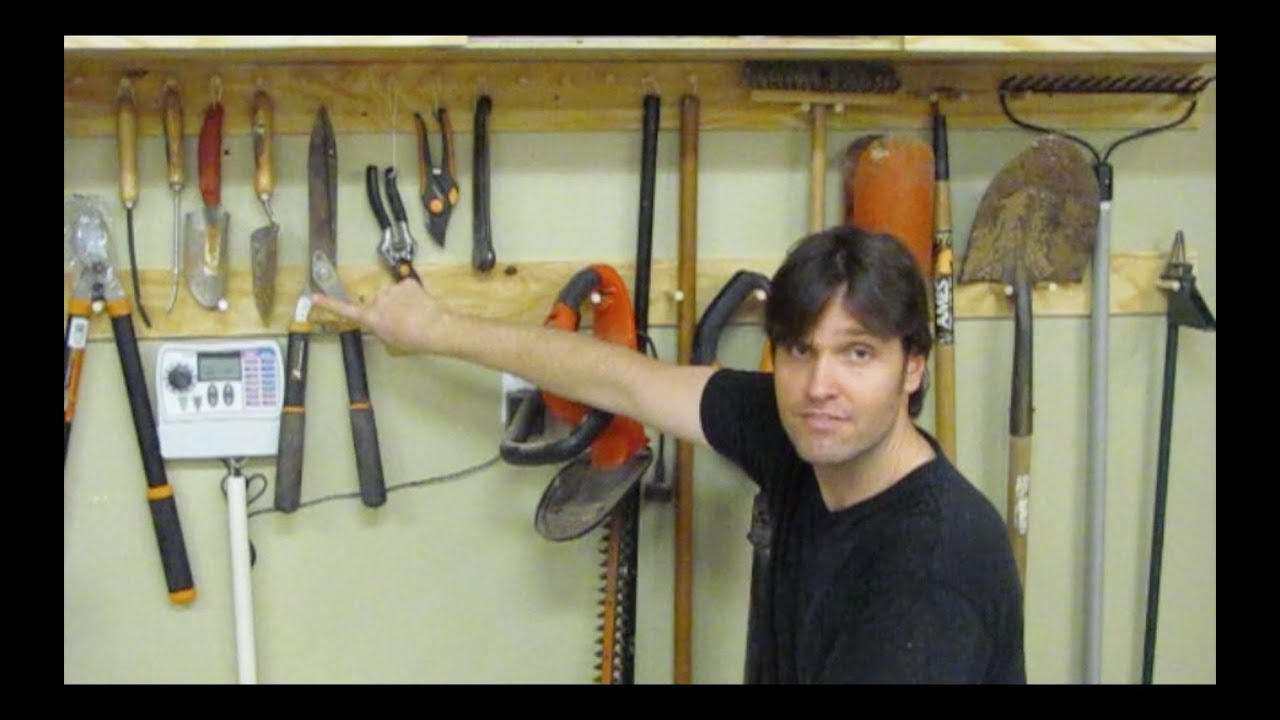 My Woodworking Journey - How to make a Garden Tool Storage ...