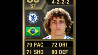 FIFA 13 IF DAVID LUIZ 80 AS STRIKER Review & In Game Stats Ultimate Team