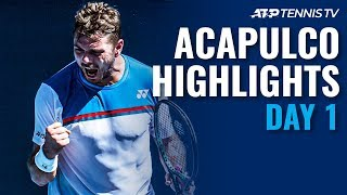 Wawrinka & Tiafoe Produce Epic; Edmund, Kecmanovic Progress | Acapulco 2020 Day 1 Highlights