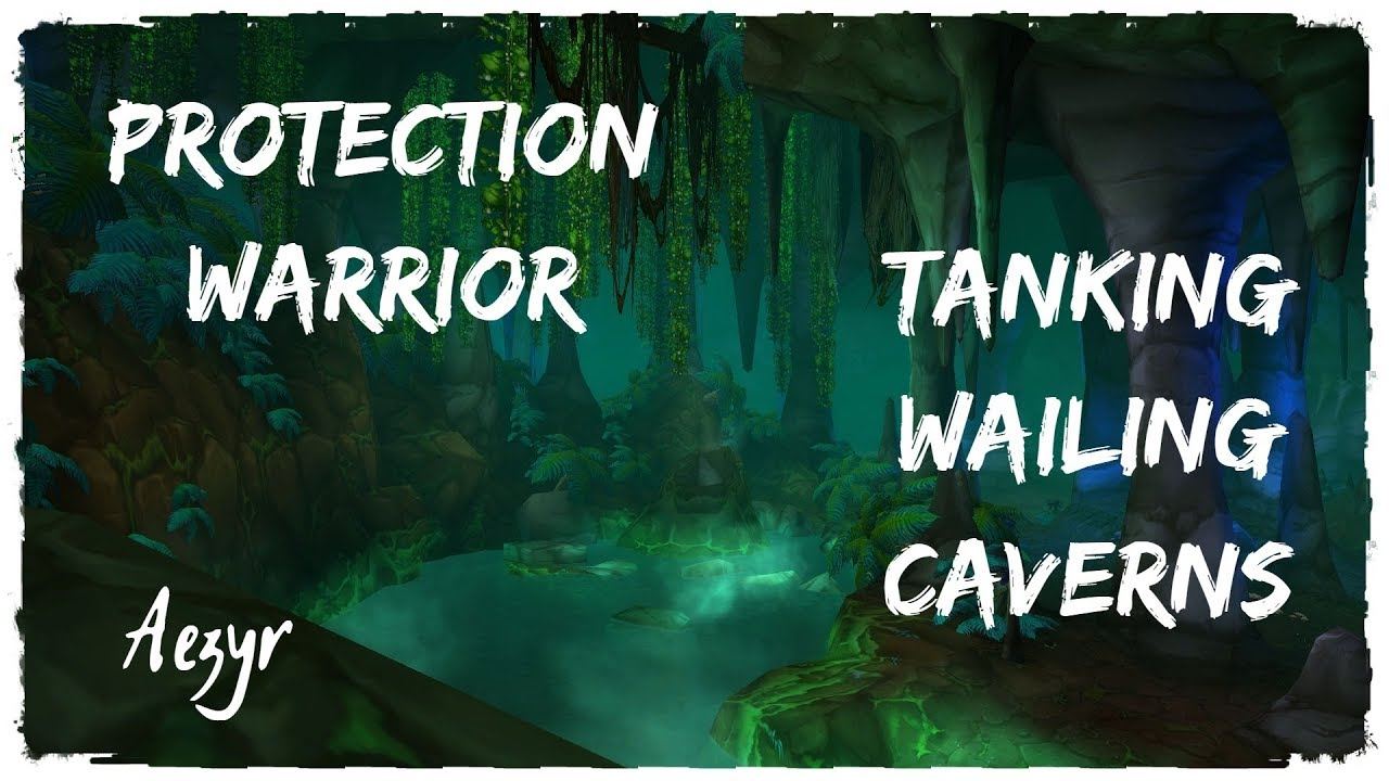 Tanking Wailing Caverns as a Prot Warrior [ W C ] on Classic WoW | Aezyr