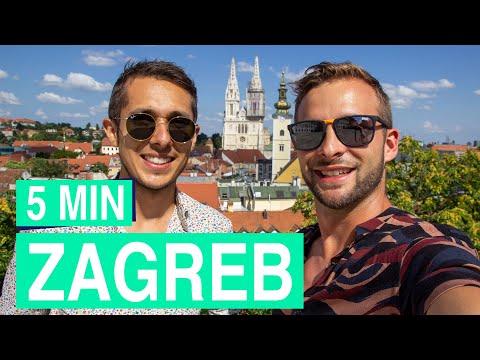 Zagreb in 5 minutes ✌️😀 popular sights in Zagreb (Croatia)