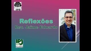 Tenha bom ânimo - João 16.33 - Rev. Jaime Eduardo