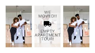 We Moved!!! Our Empty Apartment Tour | Moving In Together