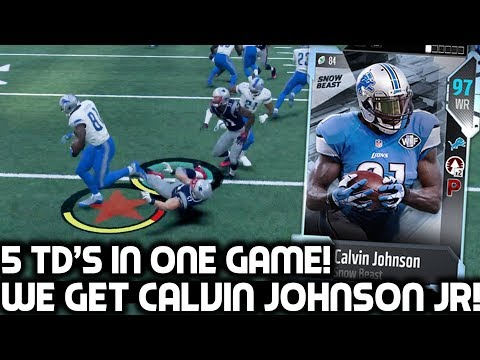 CALVIN JOHNSON JR IS UNSTOPPABLE! Greatest Performance Ever! Madden 18 Ultimate Team