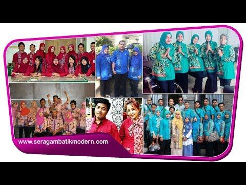 Model Batik Kantor Terbaru 2017 Seragam Batik Modern Model Baju