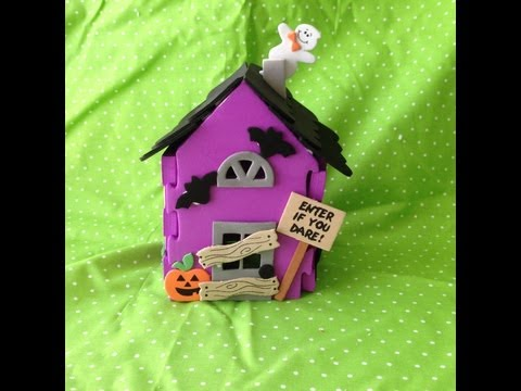Halloween Kids Craft: 3D Haunted House