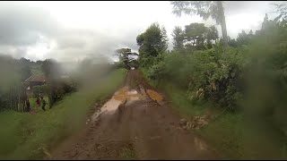Driving from Mount Kenya in the Rainy Season