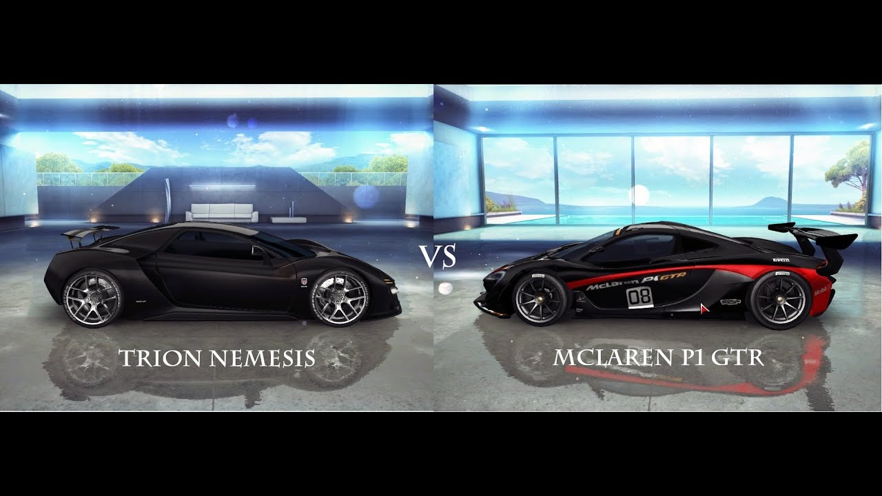 mclaren p1 gtr vs trion nemesis asphalt 8 gameplay pc. Black Bedroom Furniture Sets. Home Design Ideas
