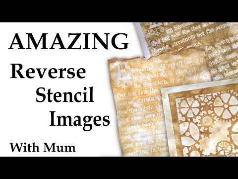 Amazing Reverse Stencil Images With Mum