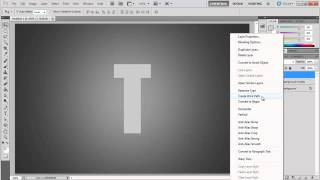 How to create a type based text effect in Photoshop