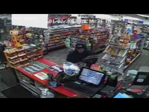 Gas station robbery caught on tape