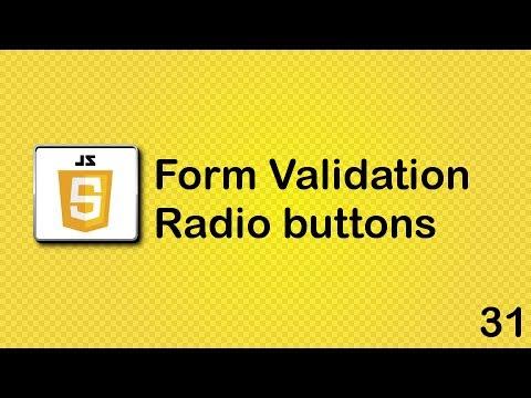 JavaScript Beginner Tutorial 31 - Radio Buttons
