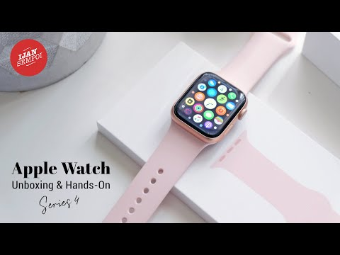 unboxing-apple-watch-series-4-(40mm)-gold-aluminium-case-with-pink-sand-sport-band