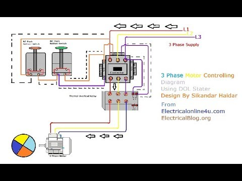 3 phase motor wiring in hindi urdu with animation diagram explain 3 phase motor starter wiring diagram pdf three phase motor wiring diagram #5