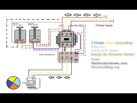 single phase starter wiring diagram 2005 suzuki gsxr 600 3ph motor data 3 in hindi urdu with animation explain a three