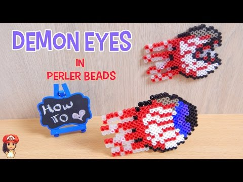 Perler Beads Demon Eyes (Terraria) Tutorial