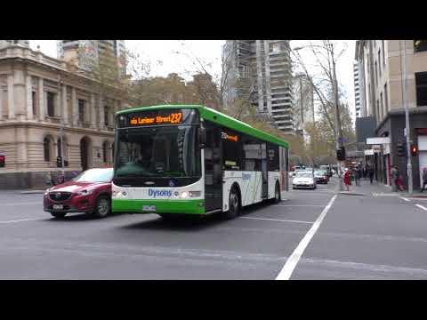 Transdev leased buses in Melbourne CBD - Melbourne Transport