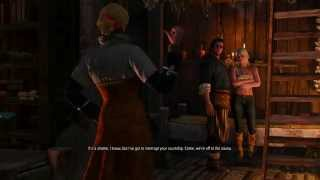The Witcher 3: Wild Hunt Half-Naked Ciri In The Bathhouse and Old Woman Grossness