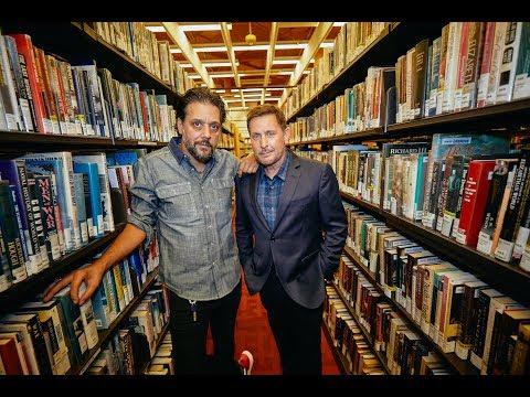 An  with Emilio Estevez at Toronto Public Library