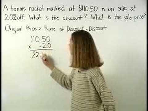 Discount Formula - MathHelp.com - Pre Algebra Help - YouTube