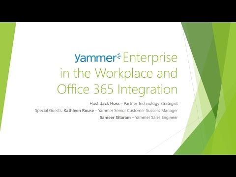 Enterprise gamification with sharepoint yammer and off doovi - Yammer office 365 integration ...