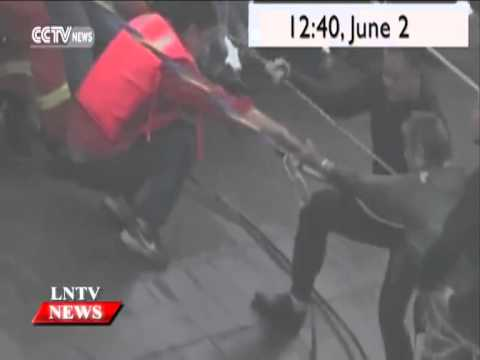 Lao NEWS on LNTV: 14 rescued in Yangtze sinking, over 430 missing.4/6/2015