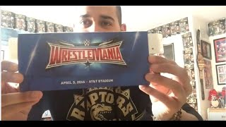 Wrestlemania 32 Ticket Unboxing !! (Travel Package)