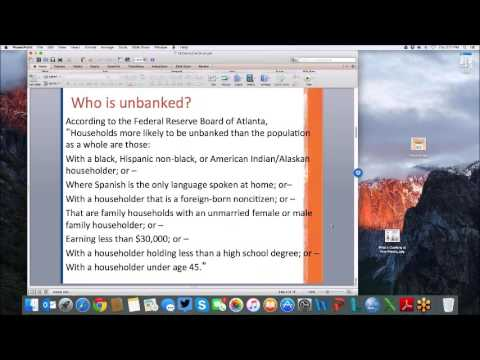The Importance of Being Banked Webinar  Dr. Gutter 12-10-2015
