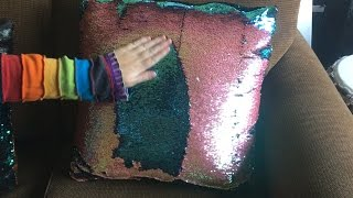 Color Changing PIllows?!?! - Two Tone Sequin Fabric DIY!