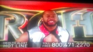 Jay Lethal Health Alert Hotline Commercial Ad - Knee and or Back Pain ROH Ring Of Honor Wrestling TV