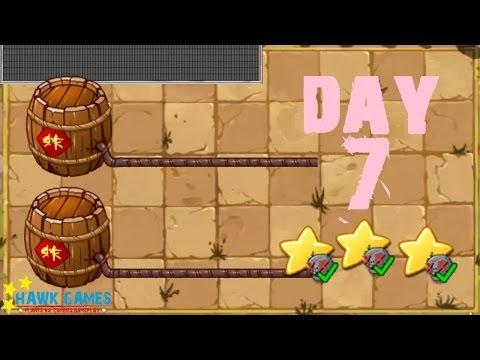 Plants vs. Zombies 2 China - Kongfu World Day 7 Powder Keg《植物大战僵尸2》- 功夫世界 7天 - 동영상