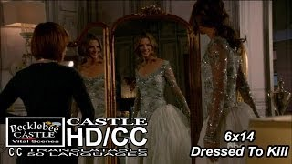 "Castle 6x14 ""Dressed To Kill"" Beckett in Wedding Dress in HD (HD/CC)"