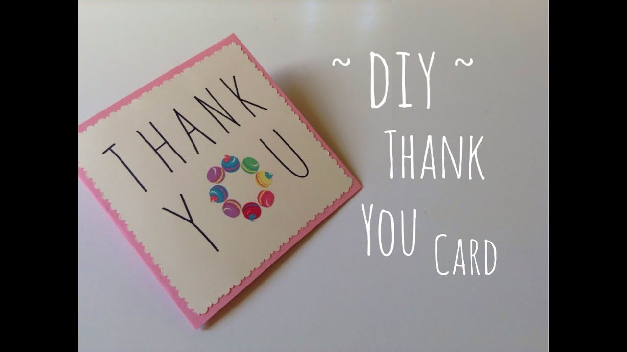 Diy Thanksgiving Day Gift Idea Friendship Card Easy Youtube