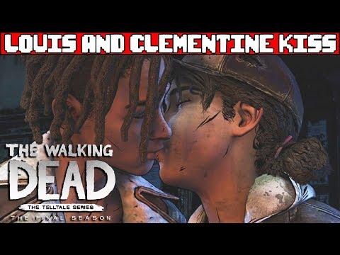 Louis Kisses Clementine - THE WALKING DEAD TELLTALE SEASON 4 Episode 2
