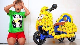 سينيا ودراجته المصغرة الجديدة