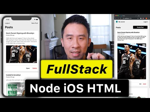 Fullstack Node iOS - Intro to SailsMVC REST API and Routes (Ep 1)