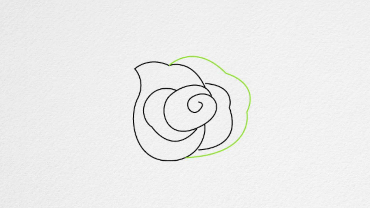 Uncategorized Small Rose Drawing how to draw a rose step by youtube step