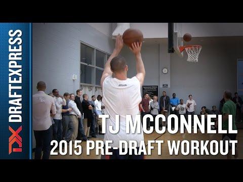TJ McConnell 2015 NBA Draft Workout Video - DraftExpress