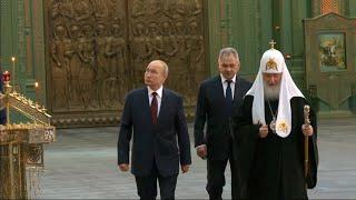Путин посетил главный храм Вооруженных сил России в Подмосковье