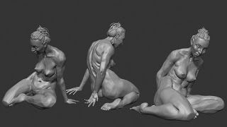 zbrush sculpting from live modele #6 (+5.5)