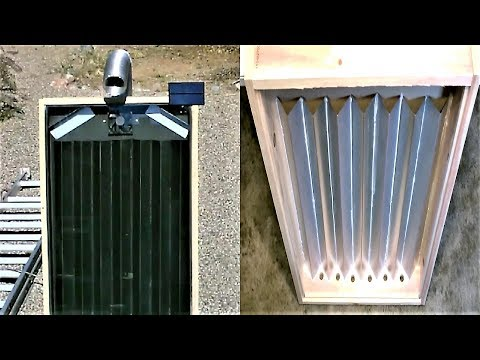 "DIY Solar Air Heater! - The Steel Slat ""Drip-Edge"" Solar Heater! - New Design! 160F 74C in January!"